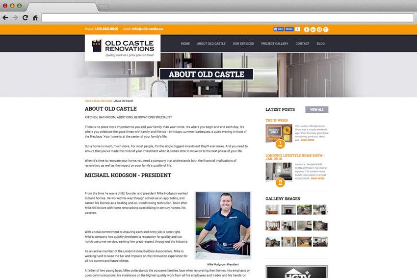Old Castle Renovations Website
